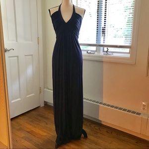 💙 Navy blue Tart halter top maxi dress